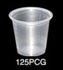 Conex Rolled Rim Graduated Medicine 1.25 oz. Clear Cup