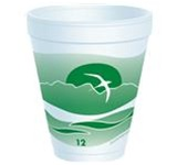 Dart Horizon Stock Green Print Cups 12 oz