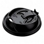 Optima Black Plastic Reclosable Lid for Foam Cups