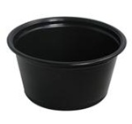 Conex Complements Souffle Black Cups 2 oz