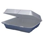 Performer Containers With Hinged Lids, 6.38in.Wx9.25in.Lx2.88in.H, 1-Compartment