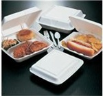 Performer Containers With Hinged Lids, 6.38in.Wx9.25in.Lx2.56in.H, 1-Compartment