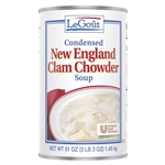 Unilever Best Foods Legout New England Clam Chowder Soup - 51 Oz.
