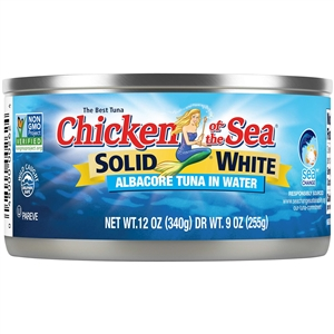 Chicken Of The Sea Albacore In Water Tuna Solid White - 12 Oz.