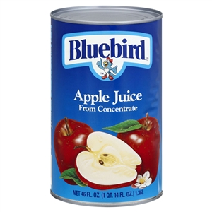 Florida Natural Bluebird Unsweetened Apple Juice - 46 Oz.