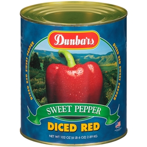 Moody Dunbar Diced Red Pepper Regular Pack