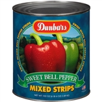 Moody Dunbar Red and Green Pepper Strip Mix - 102 Oz.