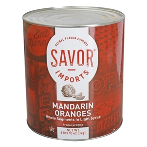 Imports Mandarin Whole Segments Orange Syrup