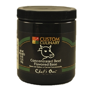 Custom Culinary Chefs Own Concentrate Beef Flavor Base - 1 Lb.