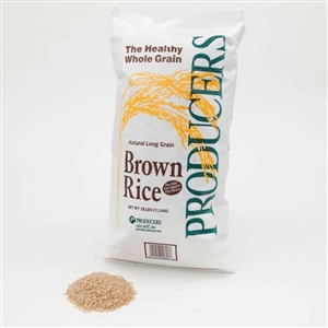 Producers Long Grain Brown Rice Four Percentage - 25 Lb.