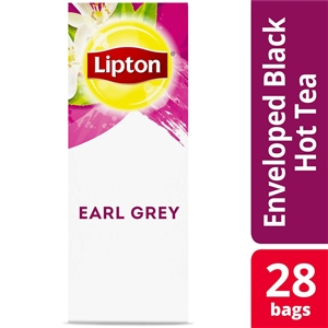 Unilever Best Foods Lipton Earl Grey Individually Wrapped 28 Bags Tea