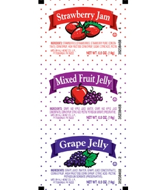 Portion Pac Jelly Assort Flavor - 10 Grm.