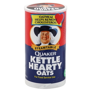 Pepsico Quaker Kettle Steamed Table Hearty Oats - 47 Oz.