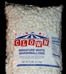 Clown-Gysin Miniature Marshmallow White - 5 Lb.