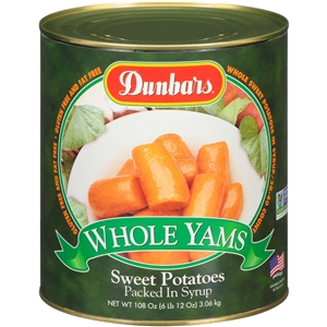 Moody Dunbar Whole Sweet Potato In Light Syrup - 108 Oz.