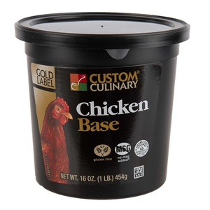 Custom Culinary Chicken Base No Msg Added - 1 Lb.