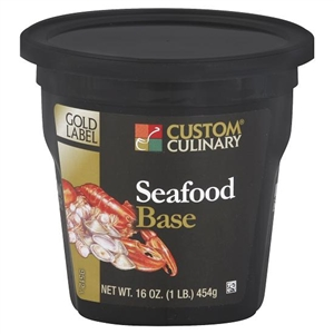 Custom Culinary Gold Label Seafood Base No Msg Added - 1 Lb.