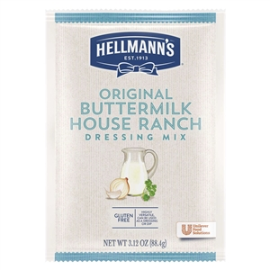 Unilever Best Foods Hellmanns Original Buttermilk House Dry Mix Pouches - 3.12 Oz.