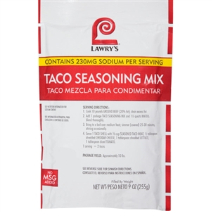 McCormick Lawrys Taco Seasoning Mix 9 oz.