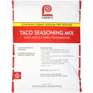 McCormick Lawrys Taco 22 oz. Seasoning Mix
