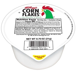 Kelloggs Corn Flakes Single Serve Cereal - 0.75 Oz.