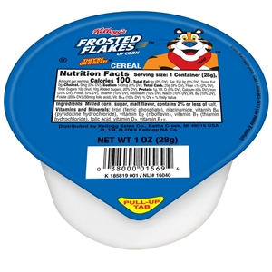 Kelloggs Frosted Flakes Single Serve Cereal - 1 Oz.