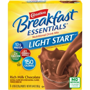 Nestle Carnation Instant Breakfast No Sugar Added Chocolate Drink - 0.69 Oz.