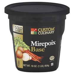 Custom Culinary Gold Label Mirepoix Base No Msg Added - 1 Lb.