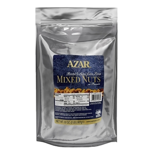 Azar No Peanuts Oil Roast Salted 2 Pound Mixed Nuts
