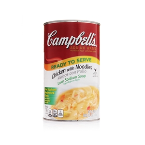Campbell's Ready To Serve Low Sodium Chicken With Noodle Soup 50 Oz.