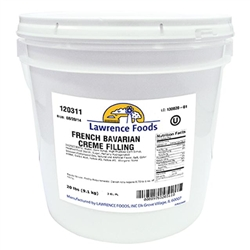 Lawrence Foods French Bavarian Cream Filling - 20 Lb.