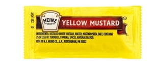 Heinz Single Serve Mustard - 0.2 Oz.