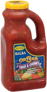 B and G Foods Ortega Medium 0.5 Gallon Chunky Salsa Sauce