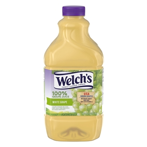 Welchs 100 Percentage Plastic Fluid Grape White  Juice - 64 Oz.