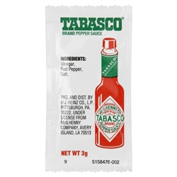 Heinz Tabasco Single Serve Sauce - 3 Grm.