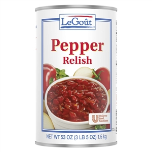 Unilever Best Foods Legout Sweet Red Pepper Relish - 53 Oz.