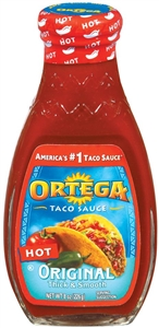 B and G Foods Ortega Taco 8 oz. Hot Sauce