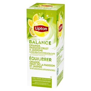Unilever Best Foods Lipton Jasmine and Passion Fruit, Orange, Green 28 Bags Tea