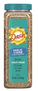 Mrs.Dash Garlic and Herb Seasoning Blend Salt Free Gluten Free - 2.5 Oz.