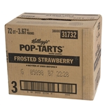 Kelloggs Pop Tart Frosted Strawberry Toaster Pastries