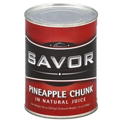 Pineapple Chunk Juice Savor - 20 Oz.