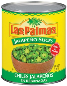 B and G Foods Peppers Las Palmas 96 oz. Sliced Jalapeno