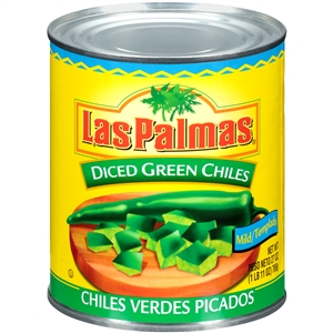 B and G Foods Las Palmas 27 oz. Green Diced Chilies