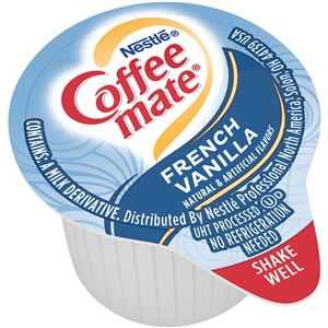 Nestle Coffee Mate French Vanilla Liquid Creamer Portion Control 0.38 Oz.