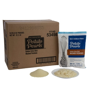 Basic American Potato Pearls Golden Extra Rich 29.6 oz. Mashed Potato