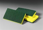 3M Scotch-Brite Medium Duty Yellow and Green Scrub Sponges