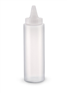 Vollrath All Purpose Plastic Clear Squeeze Dispenser Bottle