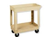 Continental Plastic Shelf Utility Cart Beige