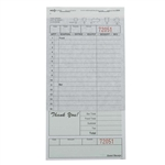 National Checking Carbon Guest Check Paper Green 2 Part - 4.2 in. x 8.25 in.