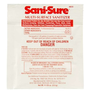 Johnson Diversey Sani-Sure Powder Sanitizer - 0.125 Oz.